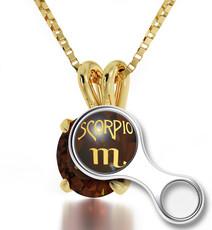 Inspirational Jewelry  Scorpio Gold Necklace