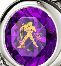 Nano Jewelry Silver Heart Aquarius Necklace