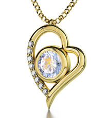 Aquarius Gold Inscribed Opal Necklace