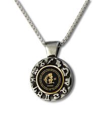 Aquarius Gold Inscribed Necklace