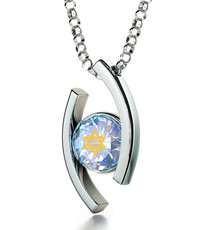Opal Diana Silver Star of David necklace from Inspirational Jewelry