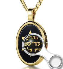 Nano Jewelry Oval Gold Song of Ascents Necklace