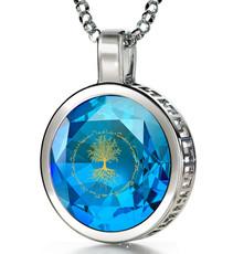 Inspirational Jewelry Necklace Silver Tree of Life