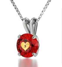 Nano Jewelry Red Cupid's Got You Silver Necklace