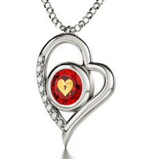 Inspirational Jewelry Cupid's Silver Heart Necklace
