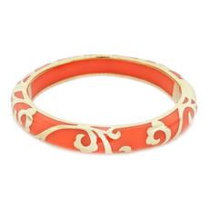 Andrew Hamilton Crawford Orange Bracelet Scroll Coral and Gold