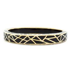 Black Hamilton Crawford Jewelry Kaleidoscope Black and Gold Bracelet