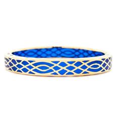 Hamilton Crawford Infinity Sapphire and Gold Blue Bracelet