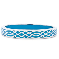 Blue Hamilton Crawford Jewelry Infinity Turquoise and Silver Bracelet