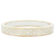 Andrew Hamilton Crawford Infinity White and Gold Bracelet