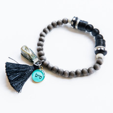 7Stitches Kabbalah Protection Black Tassel Bracelet