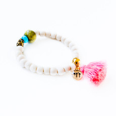 7Stitches Kabbalah Protection with Turquoise Tassel Bracelet