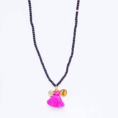 7Stitches Kabbalah Dark Wood Tassel Bracelet/Necklace