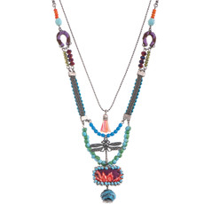 Green Ayala Bar Jewelry Fiesta Necklace