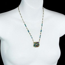 Blue Emerald necklace by Michal Golan Jewelry - second image