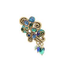 Michal Golan Jewelry Emerald Blue Pin