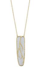 Blue Trumpet Vine necklace by Marcia Moran Jewelry