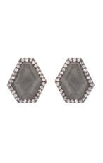 Grey Reese Post earrings from Marcia Moran Jewelry