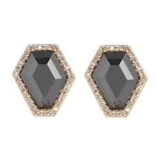 Black Reese Post earrings by Marcia Moran Jewelry