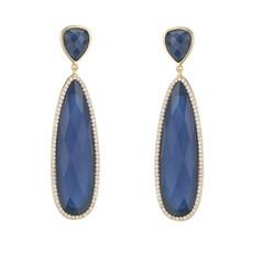 Marcia Moran Blue Britt Earrings