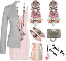 Pink Polkadot Shoe keychain from Orna Lalo Jewelry