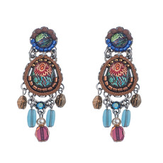 Ayala Bar Pine Indian Rug Earrings