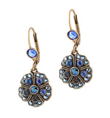 Michal Negrin Round Flower Earrings - Multi Color