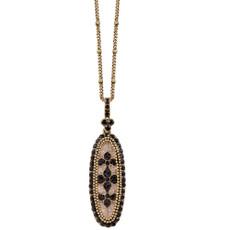Michal Negrin Black Stone Necklace