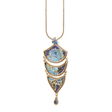 Michal Negrin Blue Fade Necklace