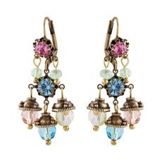 Michal Negrin Queen Earrings - Multi Color