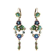 Michal Negrin Petal Drops Earrings - Multi Color