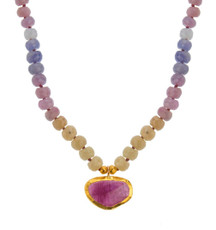Festiva Sapphire and Tourmaline Necklace by Nava Zahavi
