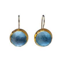 December Birthstone Blue Topaz Earrings by Nava Zahavi