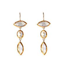 Chandelier Moonstone Earrings