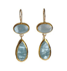Angel Aquamarine Earrings - New Arrival
