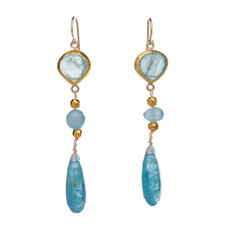 Aquamarine Lifetime Earrings by Nava Zahavi - New Arrival