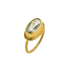 Azure Aquamarine Ring by Nava Zahavi