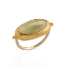 Courages Aquamarine Gold Ring by Nava Zahavi
