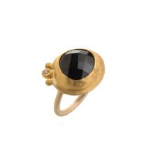Cherish Life Garnet Gold Ring by Nava Zahavi
