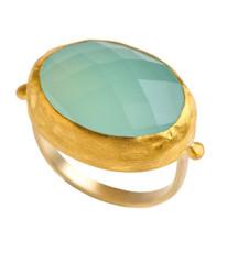 Brilliant Chalcedony Gold Ring by Nava Zahavi