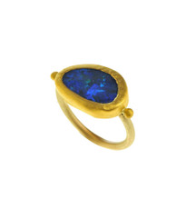 Brilliant Gold Opal Ring by Nava Zahavi