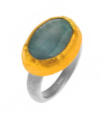 Artisan Aquamarine Ring