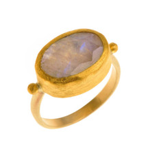 Bridal Moonstone Gold Ring