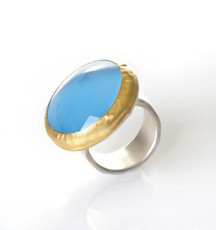 Blue Moon Chalcedony Ring by Nava Zahavi