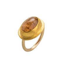 Cats Eye Tourmaline Gold Ring by Nava Zahavi