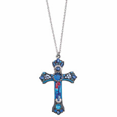 Ayala Bar Celtic Aqua Cross Necklace For Women