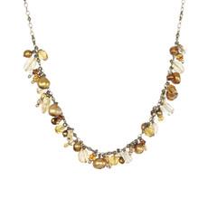 Michal Golan Citrine Dangle Bunch Necklace