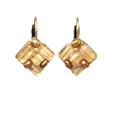 Michal Golan Jewelry Citrine Gold Earrings