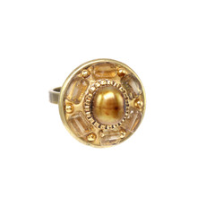 Michal Golan Citrine Round Ring