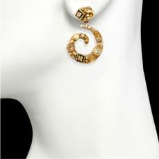 Michal Golan Citrine Swirl Post Earrings